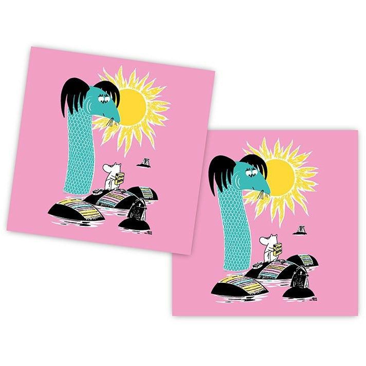 Håll Sverige Rent napkins pink by Opto Design - The Official Moomin Shop