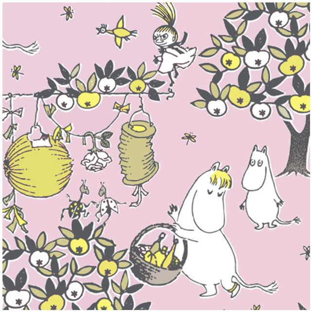 Moomin Napkins Jubilee pink - Suomen Kerta - The Official Moomin Shop