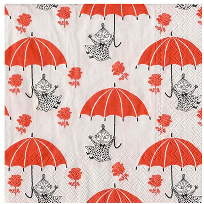 Little My with umbrella napkins by Karto - The Official Moomin Shop