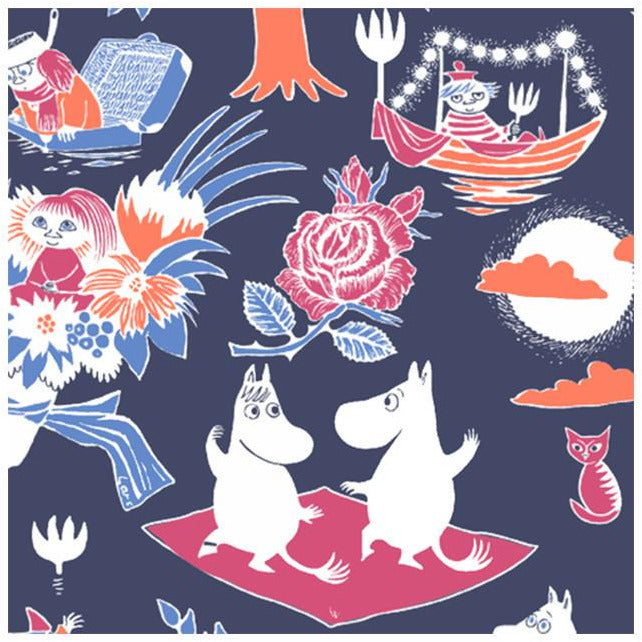 Moomin Napkins Magic blue - Suomen Kerta - The Official Moomin Shop