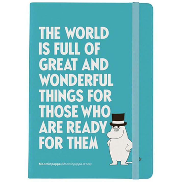 "Moominpappa ""Great and wonderful..."" Notebook - Putinki - The Official Moomin Shop"