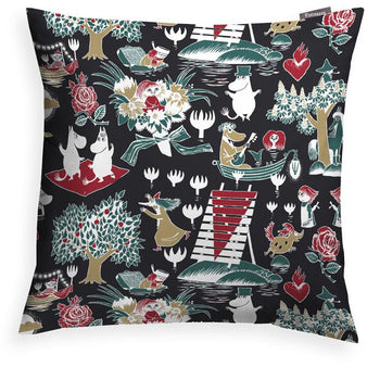 Magic Moomin decorative pillow cover black by Finlayson