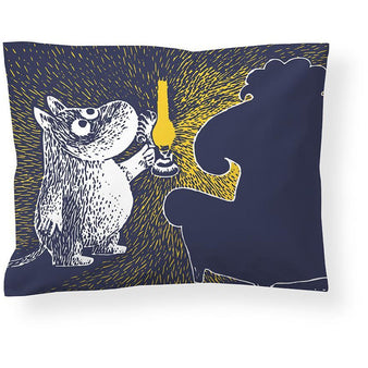 Moomin and the Ancestor satin pillow cover 50 x 60 cm by Finlayson
