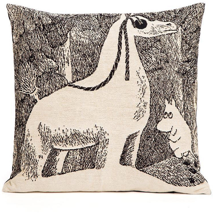 Moomin Snowhorse pillowcover by Aurora Decorari - The Official Moomin Shop