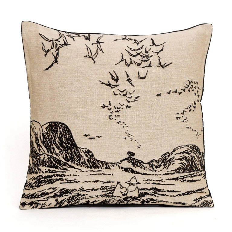Moomins in sea Cushion Cover - Aurora Decorari - The Official Moomin Shop
