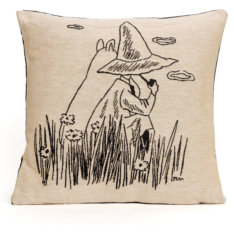 Moomintroll and Snufkin Cushion Cover - Aurora Decorari - The Official Moomin Shop