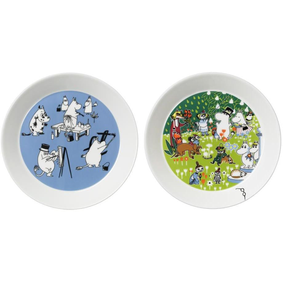 Collector's edition plate 2-pack 2016: Blue & Tove 100 - The Official Moomin Shop