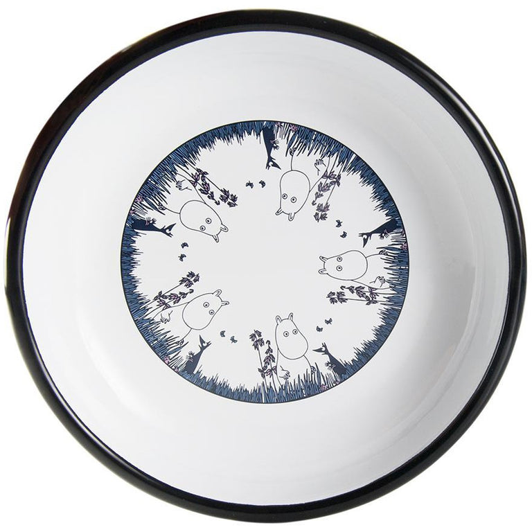 Moomin Friends - Moomintroll enamel plate 18 cm - The Official Moomin Shop
