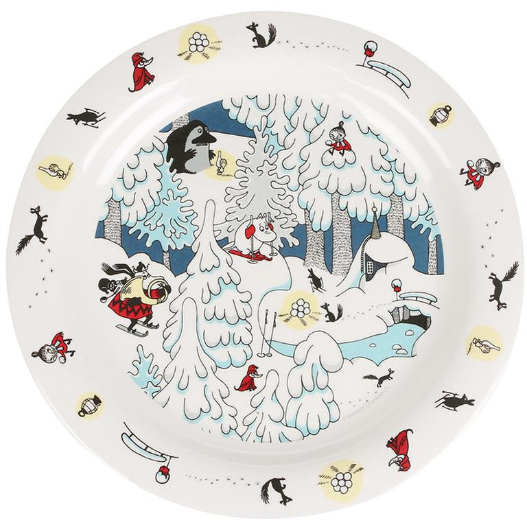 Moomin Winterland plate - The Official Moomin Shop