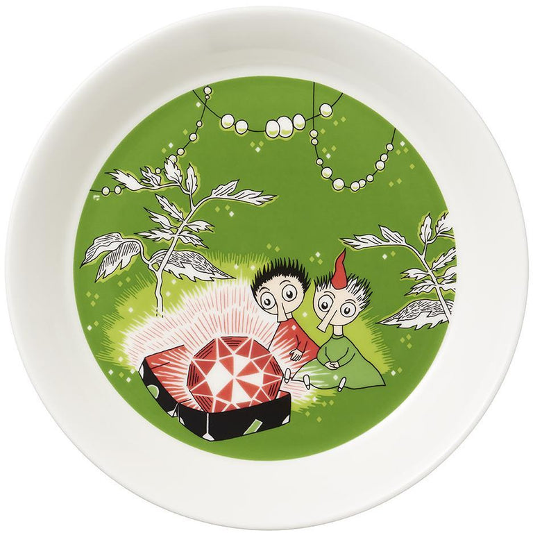 Thingumy & Bob & King's Ruby plate by Arabia - The Official Moomin Shop