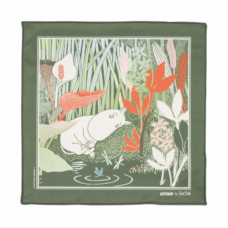 "Moomin ""Garden"" multipurpose Pocket square - FatCloth - The Official Moomin Shop"
