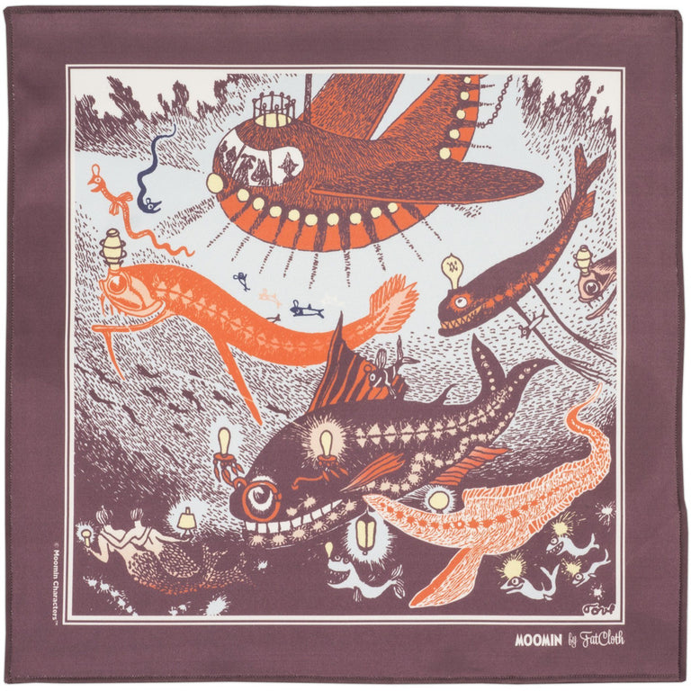 "Moomin ""Sea"" multipurpose Pocket square - FatCloth - The Official Moomin Shop"