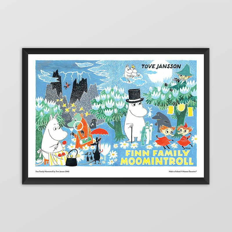 Moomin poster - Finn Family Moomintroll (landscape) - The Official Moomin Shop