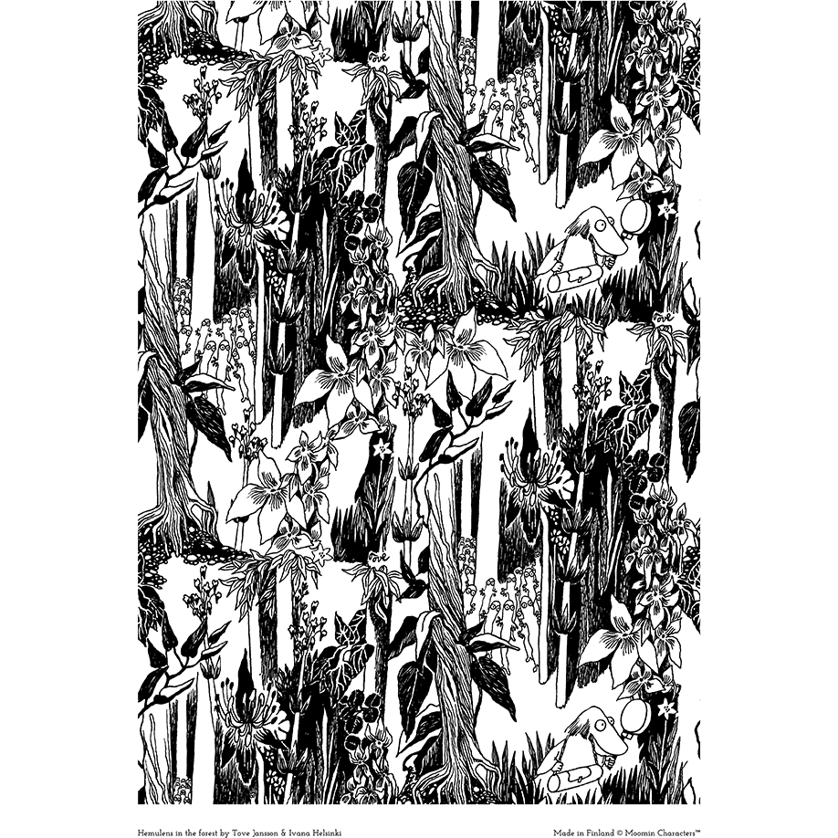 Moomin poster - Hemulens in the forest - The Official Moomin Shop