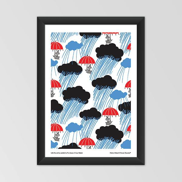 Moomin poster - Little My and her umbrella - The Official Moomin Shop