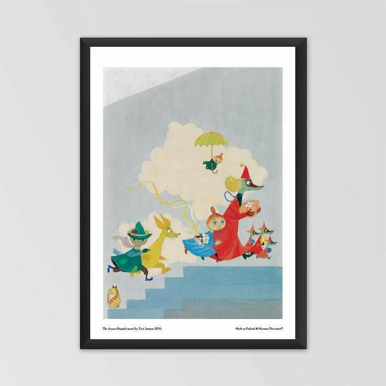 Moomin poster - The Aurora Hospital mural - The Official Moomin Shop