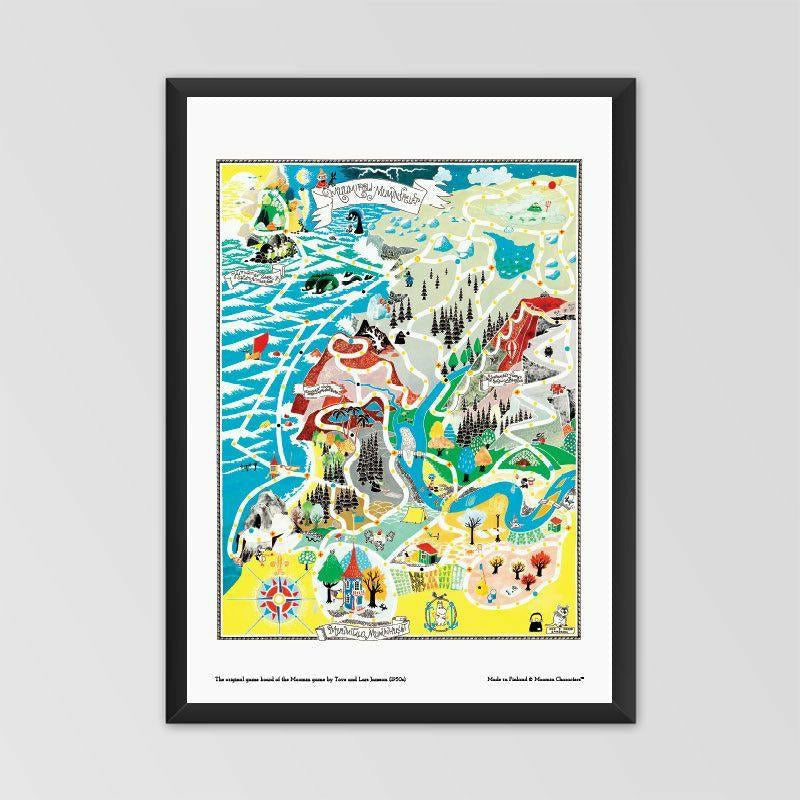 Moomin poster - The original game board of Moomin game - The Official Moomin Shop