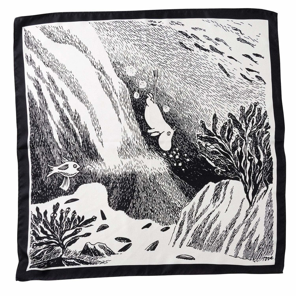 Moomin diving pocket square by Lasessor - The Official Moomin Shop