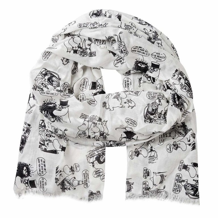 Moomin Vacation Scarf white - Lasessor - The Official Moomin Shop