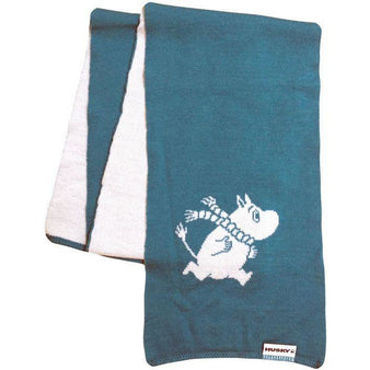 Winter Moomin scarf turquoise