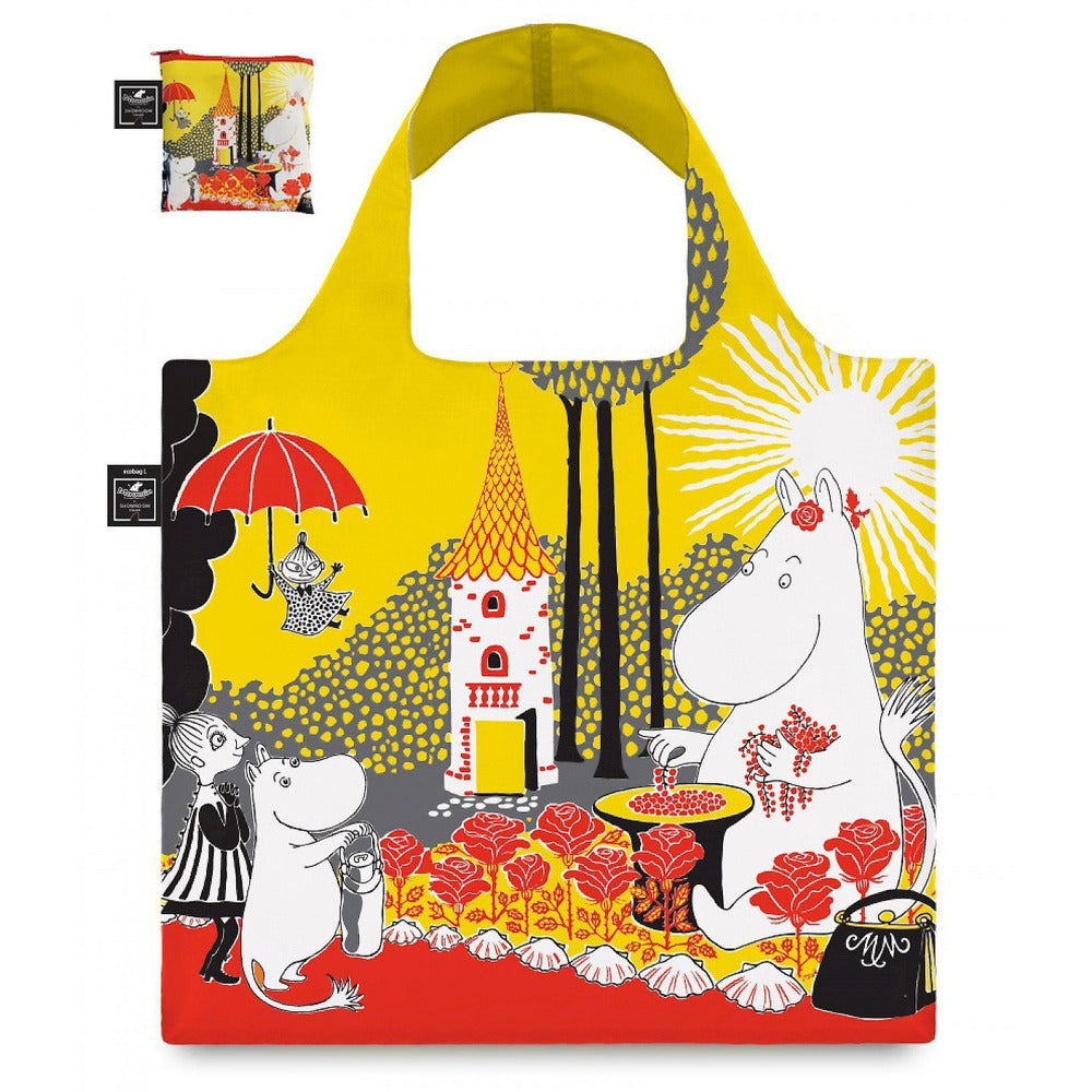 Eco carrybag Moominmamma Berries and roses - The Official Moomin Shop