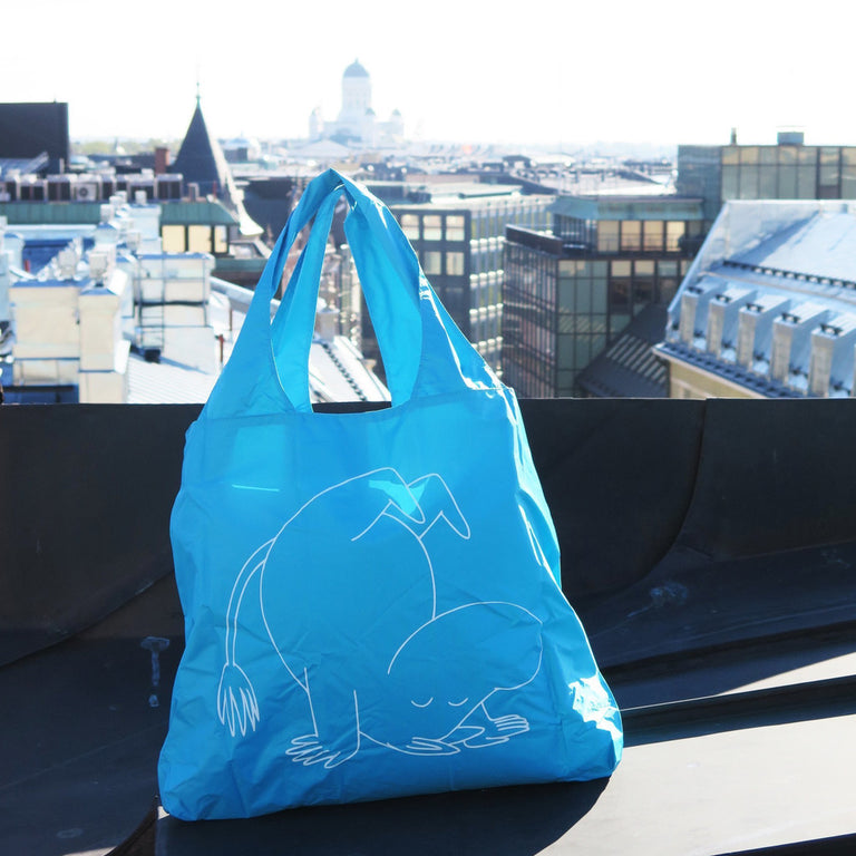 Eco carrybag Moomintroll turquoise - The Official Moomin Shop