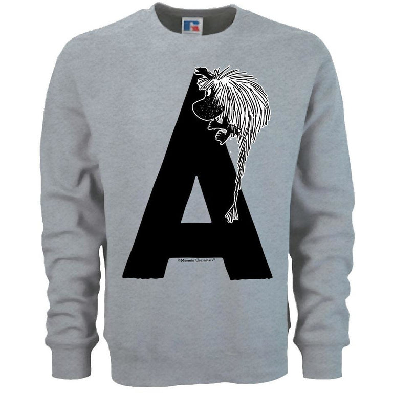 Moomin Alphabet sweatshirt  - A as in Ancestor - The Official Moomin Shop
