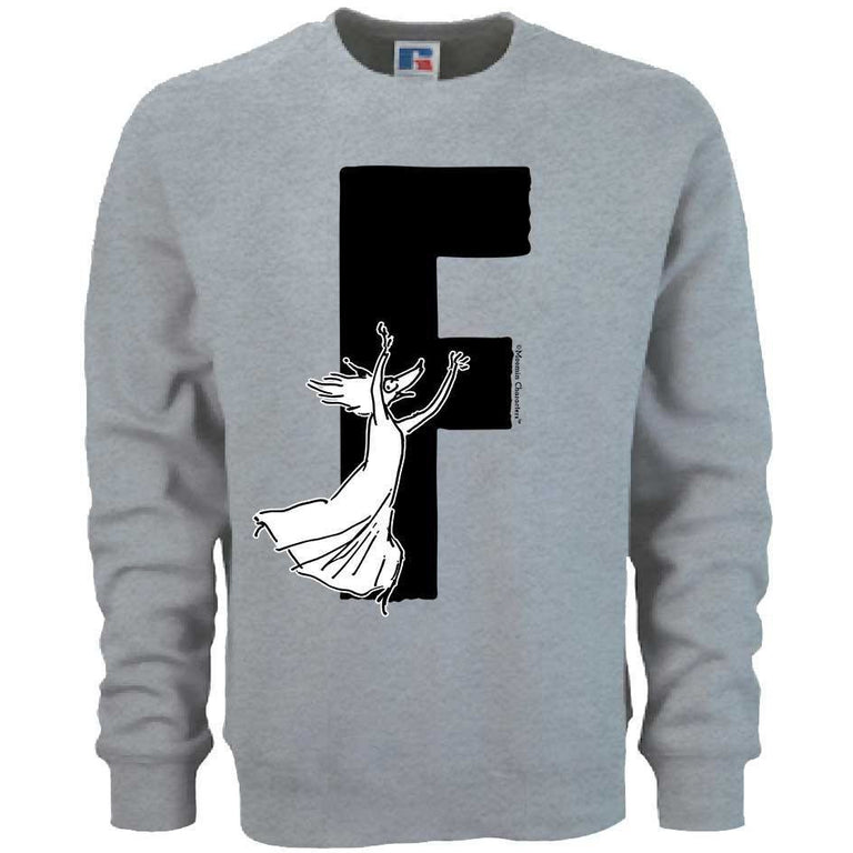 Moomin Alphabet sweatshirt  - F as in Fillyjonk - The Official Moomin Shop