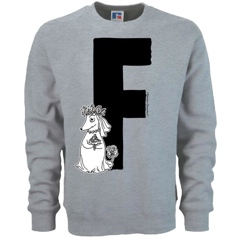 Moomin Alphabet sweatshirt  - F as in Fuzzy - The Official Moomin Shop