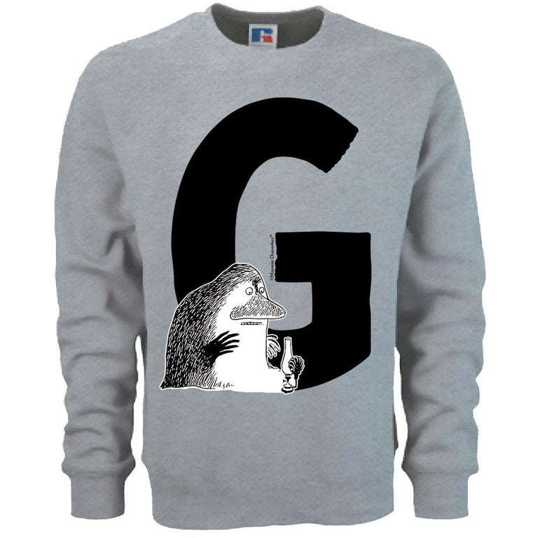 Moomin Alphabet sweatshirt  - G as in Groke - The Official Moomin Shop  - 1