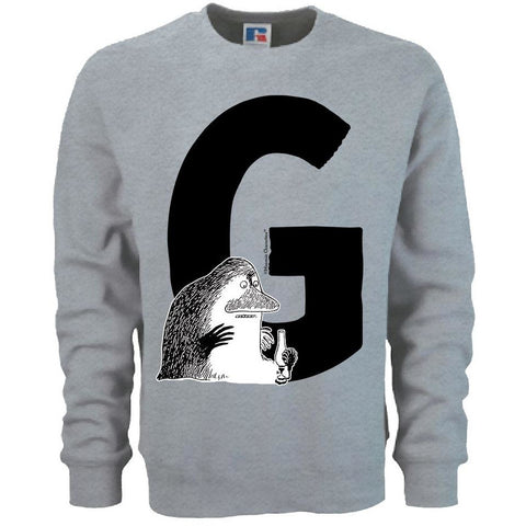 Moomin Alphabet sweatshirt  - G as in Groke