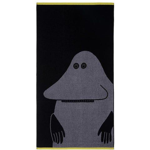 Groke bath towel black 70 x 140 cm by Finlayson
