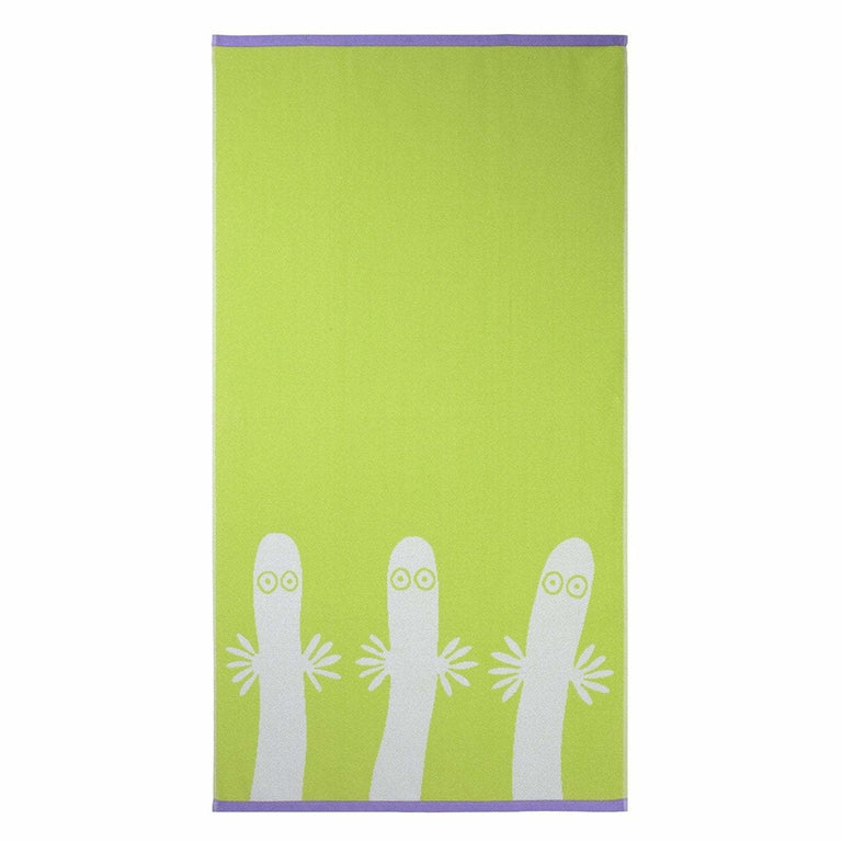 Hattifatteners bath towel lime 70 x 140 cm by Finlayson - The Official Moomin Shop