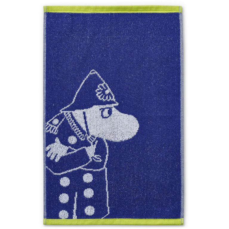 Inspector hand towel blue 30 x 50 cm by Finlayson - The Official Moomin Shop