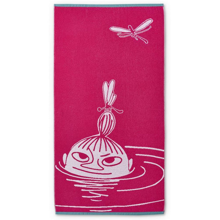 Little My bath towel pink 70 x 140 cm by Finlayson - The Official Moomin Shop