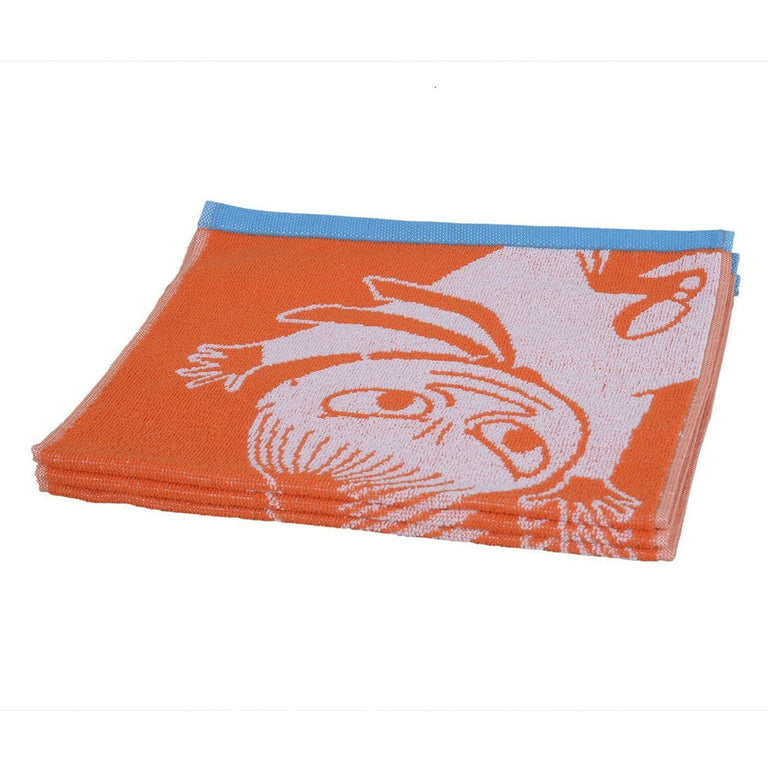 Little My hand towel orange 30 x 50 cm by Finlayson - The Official Moomin Shop