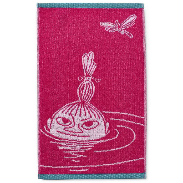 Little My hand towel pink 30 x 50 cm by Finlayson - The Official Moomin Shop