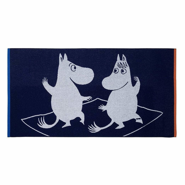 Magic Moomin bath towel blue - The Official Moomin Shop