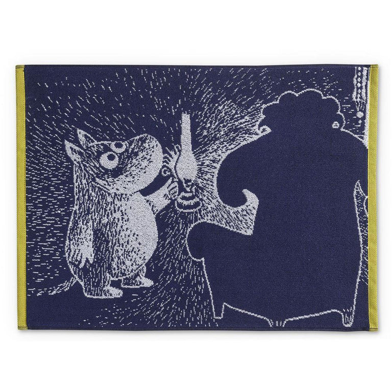 Moomin and the Ancestor hand towel 50 x 70 cm by Finlayson - The Official Moomin Shop