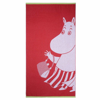 Moominmamma bath towel red 70 x 140 cm by Finlayson