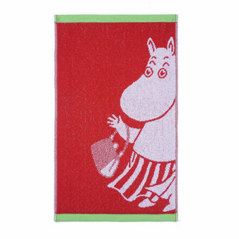 Moominmamma hand towel red 30 x 50 cm by Finlayson