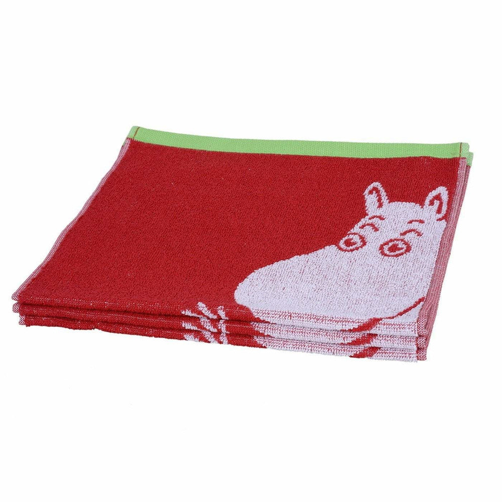 Moominmamma hand towel red 30 x 50 cm by Finlayson - The Official Moomin Shop