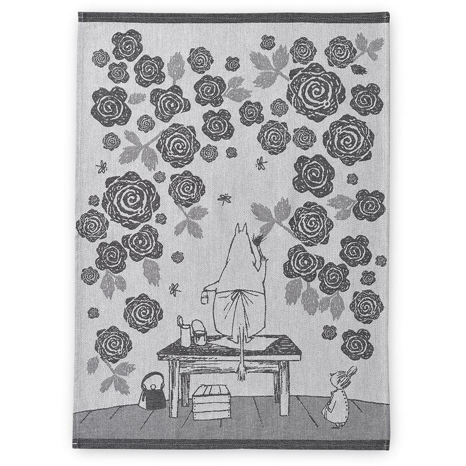 Moominmamma´s Rosegarden kitchen towel - Finlayson - The Official Moomin Shop