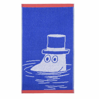 Moominpappa hand towel blue 30 x 50 cm by Finlayson