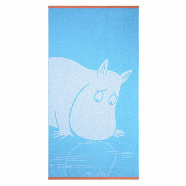 Moomintroll bath towel turquoise 70 x 140 cm by Finlayson - The Official Moomin Shop