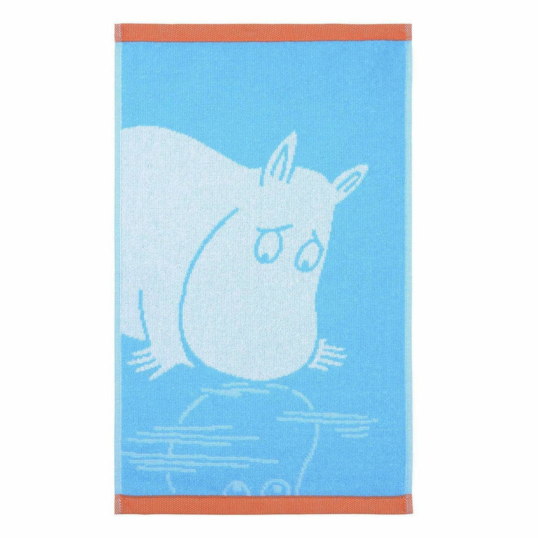 Moomintroll hand towel turquoise 30 x 50 cm by Finlayson - The Official Moomin Shop