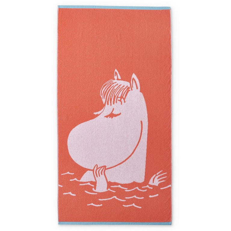 Snorkmaiden bath towel coral 70 x 140 cm by Finlayson - The Official Moomin Shop