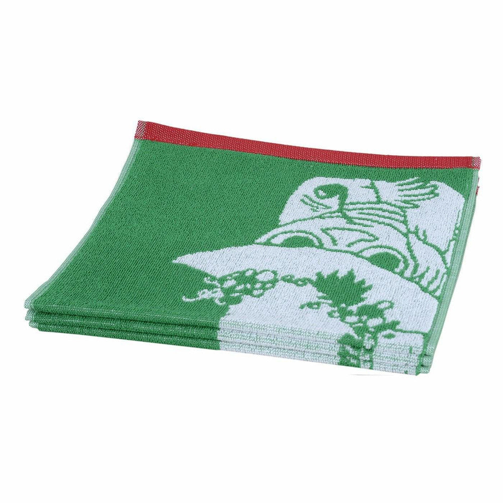 Snufkin hand towel green 30 x 50 cm by Finlayson - The Official Moomin Shop