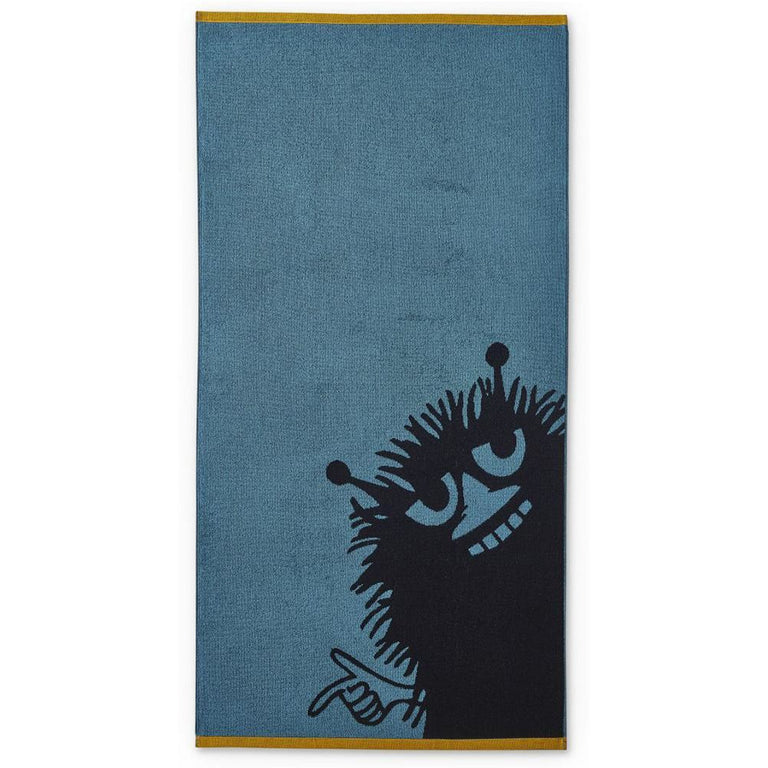 Stinky bath towel petrol 70 x 140 cm by Finlayson - The Official Moomin Shop