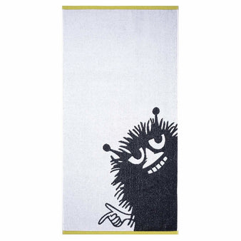Stinky bath towel white/grey 70 x 140 cm by Finlayson